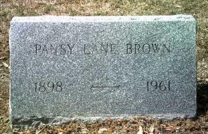 BROWN, PANSY - Jackson County, Arkansas   PANSY BROWN - Arkansas Gravestone Photos