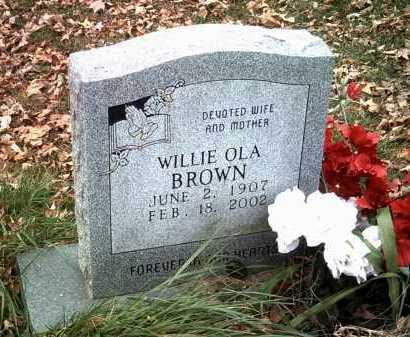 BROWN, WILLIE OLA - Jackson County, Arkansas | WILLIE OLA BROWN - Arkansas Gravestone Photos
