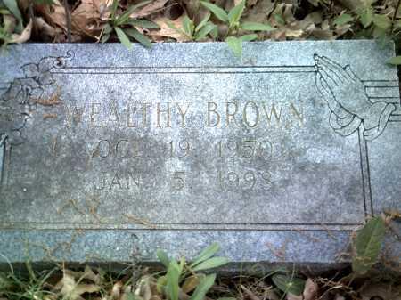 BROWN, WEALTHY - Jackson County, Arkansas | WEALTHY BROWN - Arkansas Gravestone Photos