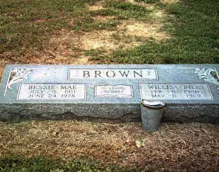 BROWN, WILLIS (BILL) - Jackson County, Arkansas | WILLIS (BILL) BROWN - Arkansas Gravestone Photos