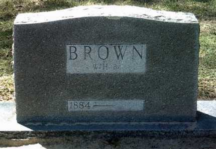 BROWN, WILLIAM H B - Jackson County, Arkansas | WILLIAM H B BROWN - Arkansas Gravestone Photos