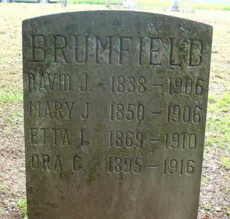 BRUMFIELD, ETTA I - Jackson County, Arkansas | ETTA I BRUMFIELD - Arkansas Gravestone Photos