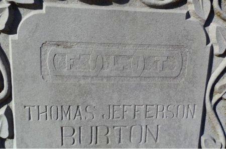 BURTON, THOMAS JEFFERSON (EMBLEM) - Jackson County, Arkansas | THOMAS JEFFERSON (EMBLEM) BURTON - Arkansas Gravestone Photos