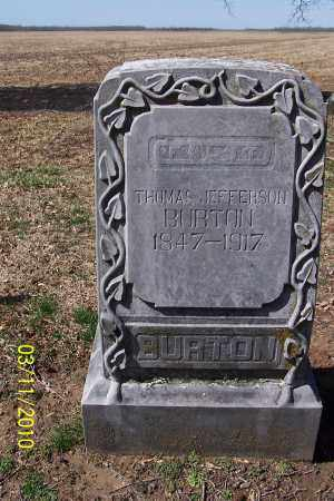 BURTON, THOMAS JEFFERSON - Jackson County, Arkansas | THOMAS JEFFERSON BURTON - Arkansas Gravestone Photos