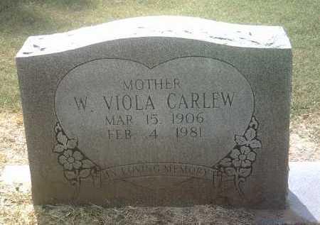 CARLEW, W VIOLA - Jackson County, Arkansas | W VIOLA CARLEW - Arkansas Gravestone Photos