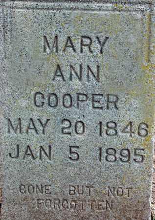 HONEY COOPER, MARY ANN - Jackson County, Arkansas | MARY ANN HONEY COOPER - Arkansas Gravestone Photos