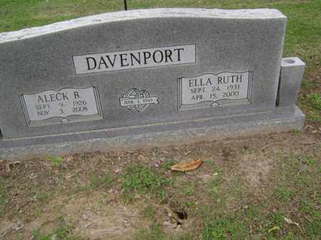 DAVENPORT, ALECK B - Jackson County, Arkansas   ALECK B DAVENPORT - Arkansas Gravestone Photos