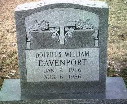 DAVENPORT, DOLPHUS WILLIAM - Jackson County, Arkansas   DOLPHUS WILLIAM DAVENPORT - Arkansas Gravestone Photos