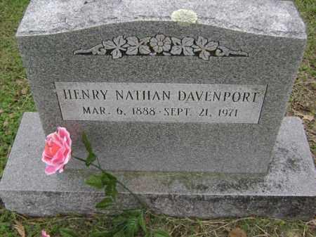 DAVENPORT, HENRY NATHAN - Jackson County, Arkansas | HENRY NATHAN DAVENPORT - Arkansas Gravestone Photos