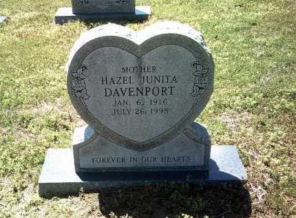 DAVENPORT, HAZEL JUNITA - Jackson County, Arkansas   HAZEL JUNITA DAVENPORT - Arkansas Gravestone Photos