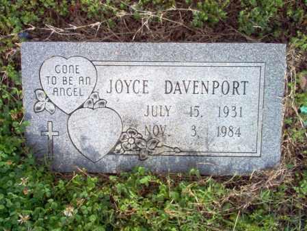 DAVENPORT, JOYCE - Jackson County, Arkansas   JOYCE DAVENPORT - Arkansas Gravestone Photos
