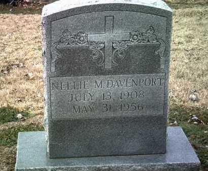DAVENPORT, NELLIE M - Jackson County, Arkansas | NELLIE M DAVENPORT - Arkansas Gravestone Photos