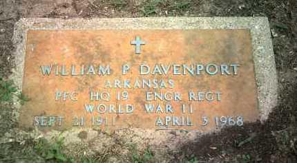 DAVENPORT (VETERAN WWII), WILLIAM P - Jackson County, Arkansas   WILLIAM P DAVENPORT (VETERAN WWII) - Arkansas Gravestone Photos
