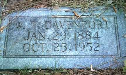 DAVENPORT, W T - Jackson County, Arkansas   W T DAVENPORT - Arkansas Gravestone Photos