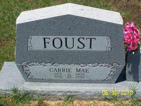 FOUST, CARRIE MAE - Jackson County, Arkansas   CARRIE MAE FOUST - Arkansas Gravestone Photos