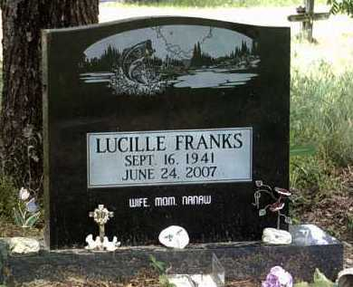 FRANKS, LUCILLE - Jackson County, Arkansas | LUCILLE FRANKS - Arkansas Gravestone Photos