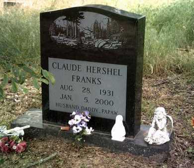 FRANKS, CLAUDE HERSHEL - Jackson County, Arkansas   CLAUDE HERSHEL FRANKS - Arkansas Gravestone Photos