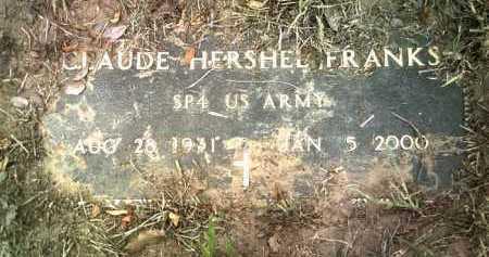 FRANKS (VETERAN), CLAUDE HERSHEL - Jackson County, Arkansas   CLAUDE HERSHEL FRANKS (VETERAN) - Arkansas Gravestone Photos