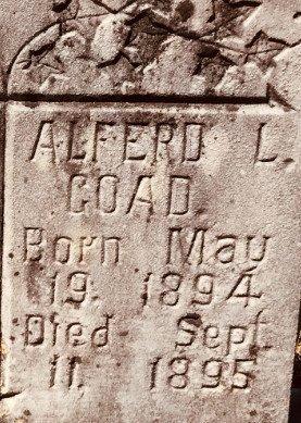 GOAD, ALFERD L. (CLOSE UP) - Jackson County, Arkansas | ALFERD L. (CLOSE UP) GOAD - Arkansas Gravestone Photos