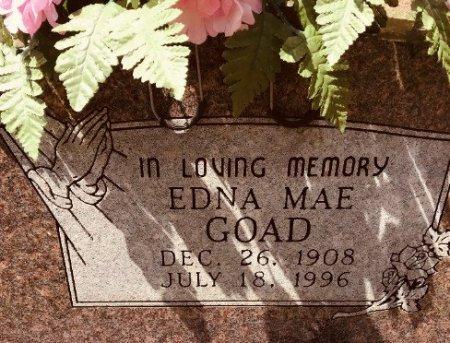 GOAD, EDNA MAE (CLOSE UP) - Jackson County, Arkansas | EDNA MAE (CLOSE UP) GOAD - Arkansas Gravestone Photos