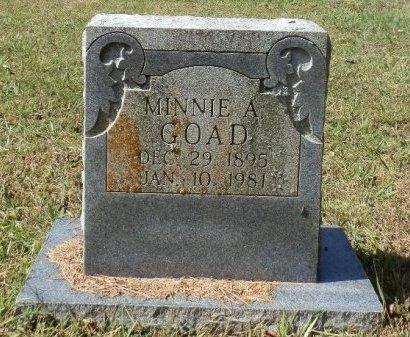 GOAD, MINNIE ARIZONA - Jackson County, Arkansas | MINNIE ARIZONA GOAD - Arkansas Gravestone Photos
