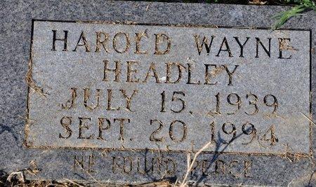HEADLEY, HAROLD WAYNE - Jackson County, Arkansas   HAROLD WAYNE HEADLEY - Arkansas Gravestone Photos