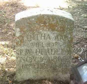 HEADLEY, MARTHA ANN - Jackson County, Arkansas | MARTHA ANN HEADLEY - Arkansas Gravestone Photos