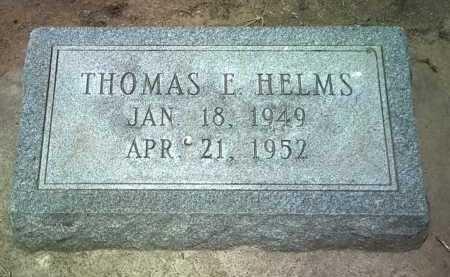 HELMS, THOMAS E - Jackson County, Arkansas | THOMAS E HELMS - Arkansas Gravestone Photos