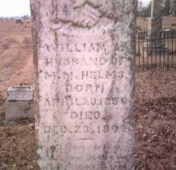HELMS, WILLIAM A - Jackson County, Arkansas | WILLIAM A HELMS - Arkansas Gravestone Photos
