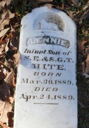 HITE, LENNIE - Jackson County, Arkansas   LENNIE HITE - Arkansas Gravestone Photos