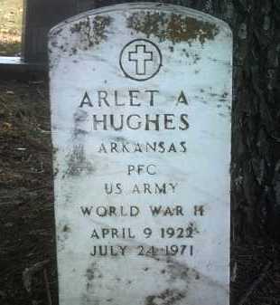 HUGHES (VETERAN WWII), ARLET A - Jackson County, Arkansas | ARLET A HUGHES (VETERAN WWII) - Arkansas Gravestone Photos
