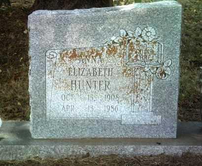 HUNTER, ANNA ELIZABETH - Jackson County, Arkansas   ANNA ELIZABETH HUNTER - Arkansas Gravestone Photos