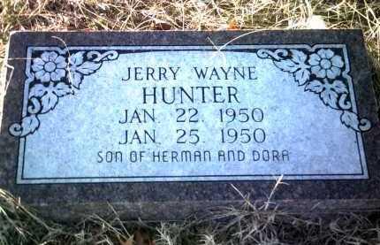 HUNTER, JERRY WAYNE - Jackson County, Arkansas | JERRY WAYNE HUNTER - Arkansas Gravestone Photos
