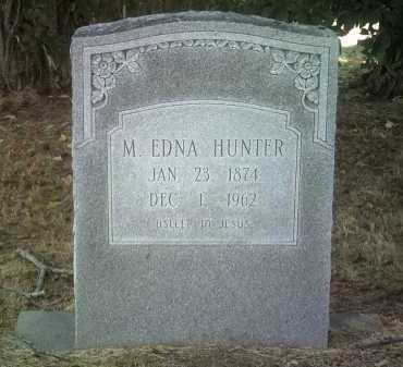 HUNTER, M EDNA - Jackson County, Arkansas   M EDNA HUNTER - Arkansas Gravestone Photos