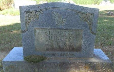 HUNTER, WILLARD D - Jackson County, Arkansas | WILLARD D HUNTER - Arkansas Gravestone Photos