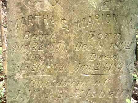 ISBELL, MARION Y - Jackson County, Arkansas   MARION Y ISBELL - Arkansas Gravestone Photos