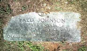 JOHNSON (VETERAN WWII), FRED - Jackson County, Arkansas | FRED JOHNSON (VETERAN WWII) - Arkansas Gravestone Photos