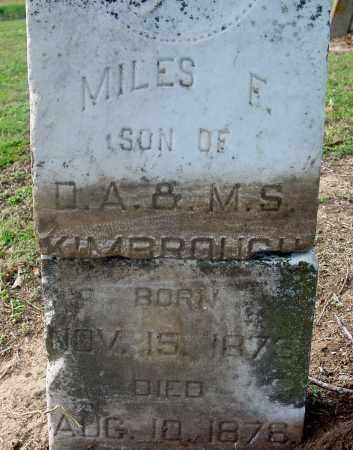 KIMBROUGH, MILES E - Jackson County, Arkansas   MILES E KIMBROUGH - Arkansas Gravestone Photos