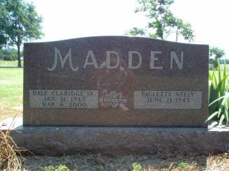 MADDEN, SR., DALE CLARIDGE - Jackson County, Arkansas   DALE CLARIDGE MADDEN, SR. - Arkansas Gravestone Photos
