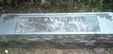MCRAYNOLDS, M LEONA - Jackson County, Arkansas | M LEONA MCRAYNOLDS - Arkansas Gravestone Photos