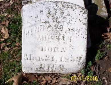 MUSTIN, HENRY POWERS - Jackson County, Arkansas   HENRY POWERS MUSTIN - Arkansas Gravestone Photos