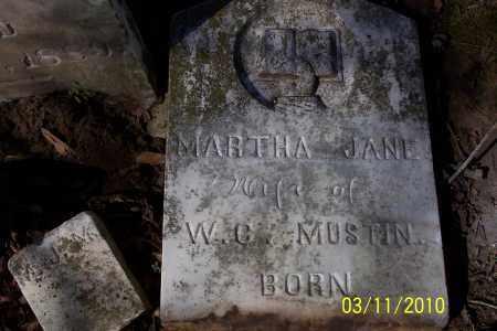 MUSTIN, MARTHA JANE - Jackson County, Arkansas | MARTHA JANE MUSTIN - Arkansas Gravestone Photos