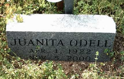 ODELL, JUANITA - Jackson County, Arkansas   JUANITA ODELL - Arkansas Gravestone Photos
