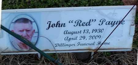 "PAYNE, JOHN ""RED"" - Jackson County, Arkansas | JOHN ""RED"" PAYNE - Arkansas Gravestone Photos"