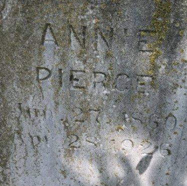 PIERCE, ANNIE (CLOSE UP) - Jackson County, Arkansas   ANNIE (CLOSE UP) PIERCE - Arkansas Gravestone Photos