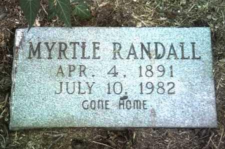 RANDALL, MYRTLE - Jackson County, Arkansas   MYRTLE RANDALL - Arkansas Gravestone Photos
