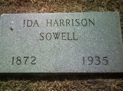 HARRISON SOWELL, IDA - Jackson County, Arkansas | IDA HARRISON SOWELL - Arkansas Gravestone Photos