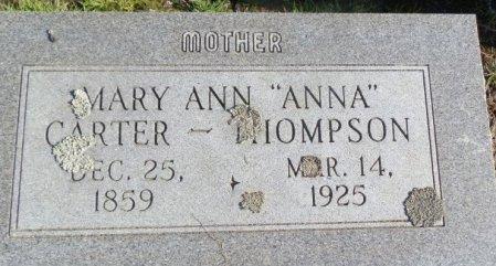 """THOMPSON, MARY ANN  """"ANNA""""  (CLOSE UP) - Jackson County, Arkansas   MARY ANN  """"ANNA""""  (CLOSE UP) THOMPSON - Arkansas Gravestone Photos"""