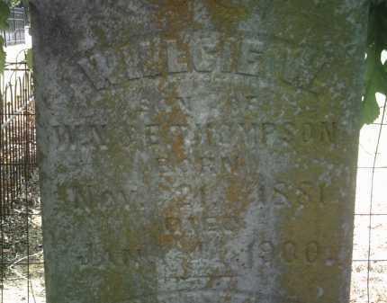 THOMPSON (PIC2), WILLCIE W - Jackson County, Arkansas | WILLCIE W THOMPSON (PIC2) - Arkansas Gravestone Photos