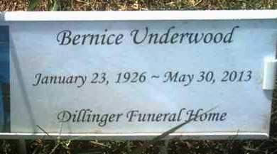 UNDERWOOD, BERNICE - Jackson County, Arkansas | BERNICE UNDERWOOD - Arkansas Gravestone Photos